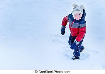 children on snow