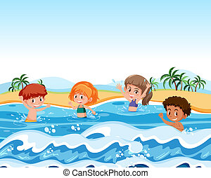 Children on summer holiday