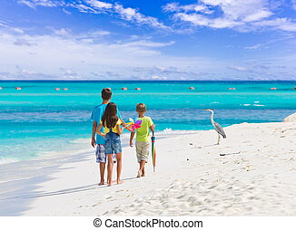 Children on tropical beach