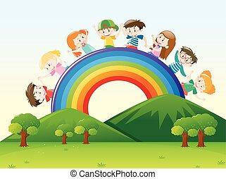 Children over the rainbow