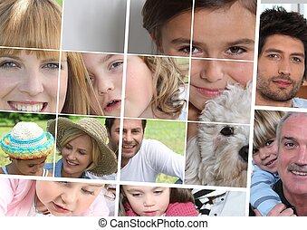 children, parents and grandparents