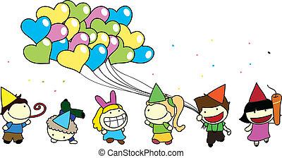 children party background