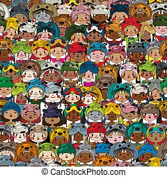 Children pattern colored