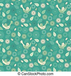 Children pattern with birds.