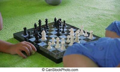 Children Play Chess - Children play chess unrecognizable ...