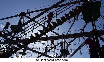 Children play on gorilla climb 2