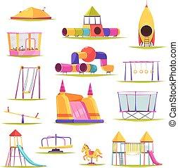 Children Playground Elements Set