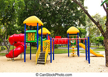 children playground in park