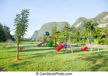 Children playground park.