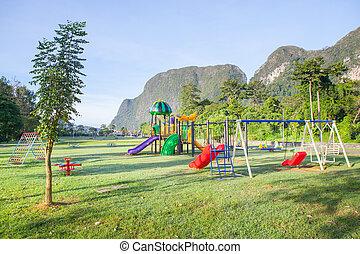 Children playground park.