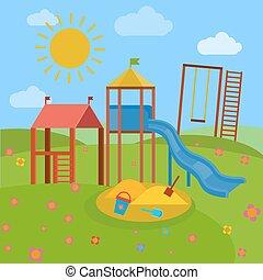 Children Playground vector