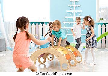 Children playing in kindergarten