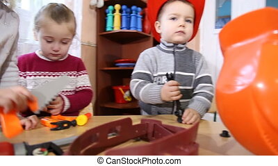 children playing in the profession