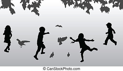 Children playing outdoors