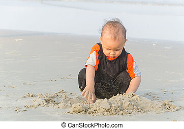 Children playing sand