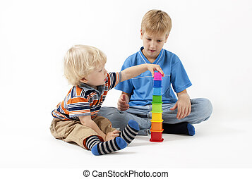 Children plays educational toy