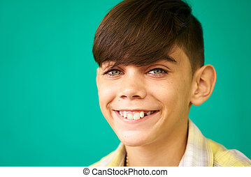 Children Portrait Latino Boy Smiling Happy Funny Hispanic Child