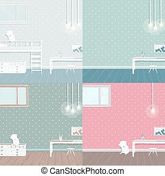 Children room background set