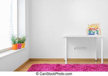 Photo of white clean children room