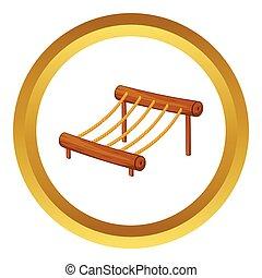 Children rope ladder vector icon