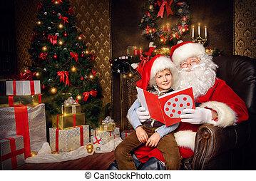 children santa - Santa Claus in his everyday clothes in ...