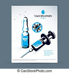 Children scheduled vaccination advertisement brochure....