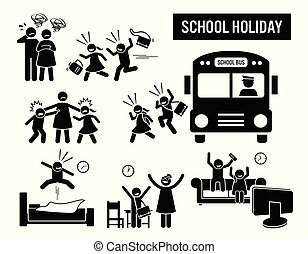 Children school holiday.