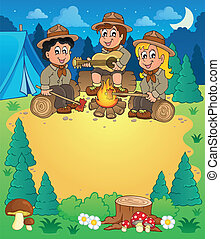 Children scouts theme image 3 - eps10 vector illustration.