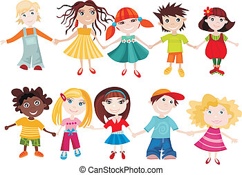 children set - vector illustration of a children set