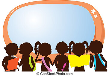 children silhouettes education