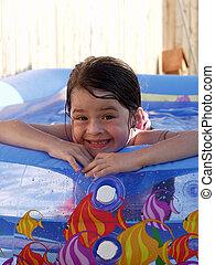 Children-Silly Swim Girl