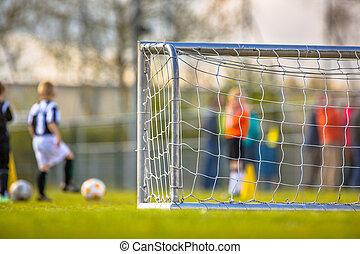 Children soccer training