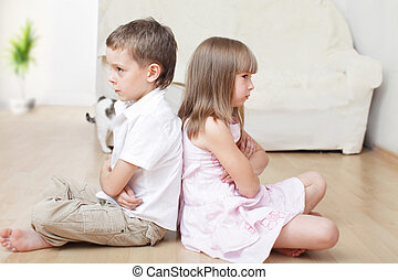 Children swear - Conflict between the brother and sister