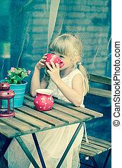 children tea party