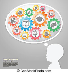Children Think with Education icons