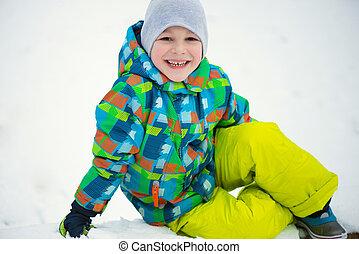 Children throwing snowballs