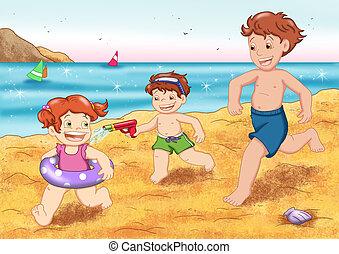 children to the sea