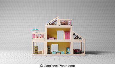 Children toy in studio shot