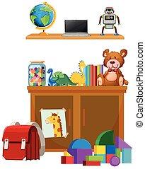 Children toy on white background