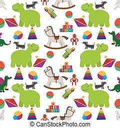Children toys seamless pattern