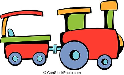 Children train icon, icon cartoon
