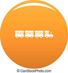 Children train icon vector orange