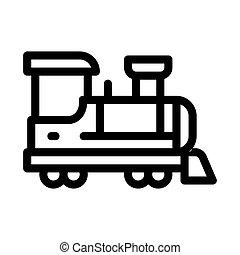 children train icon vector outline illustration