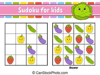 children., training., logique, couleur, vecteur, activité, ...