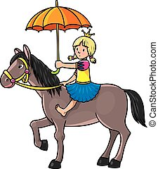 Princess on the horse
