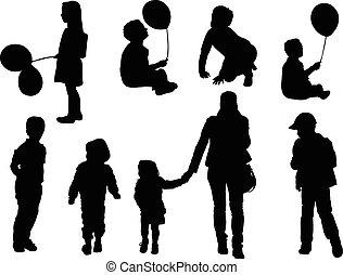 children - vector - illustration of children - vector