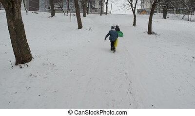 children winter afternoon