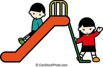 children with a slide