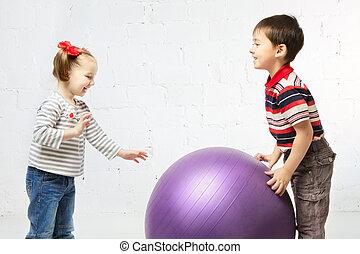 Children With Ball
