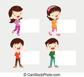 Children with board